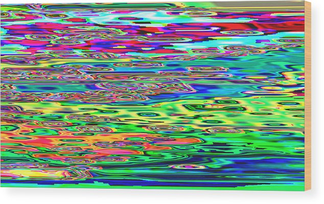 Kazaniwskyj Wood Print featuring the digital art Many Colors 22 by Alfred Kazaniwskyj
