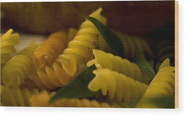 Pasta Wood Print featuring the photograph Pasta by Jessica Wakefield