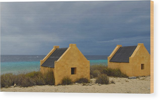 Slave Wood Print featuring the photograph Slave Huts by Stephen Anderson