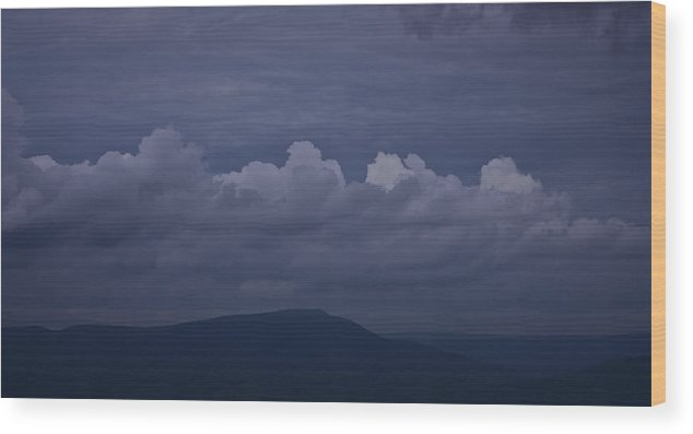 Roanoke Wood Print featuring the photograph Storm Clouds Over The Valley by Teresa Mucha