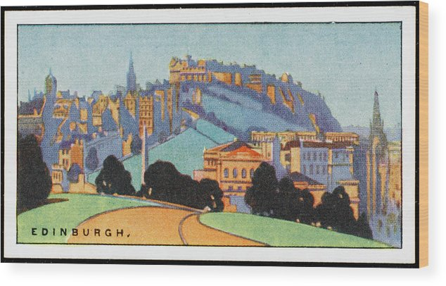 Edinburgh Wood Print featuring the drawing Edinburgh General View    Date by Mary Evans Picture Library