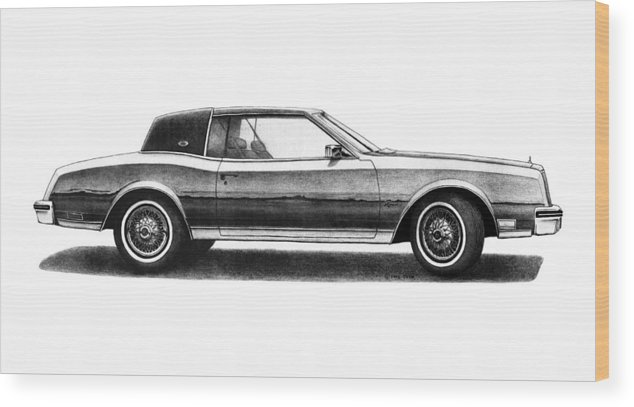 Buick Riviera Coupe Wood Print By Nick Toth - Toth buick car show