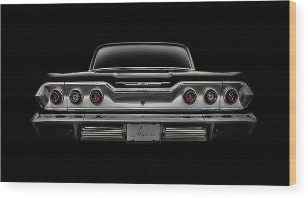 Impala Wood Print featuring the digital art '63 Impala by Douglas Pittman