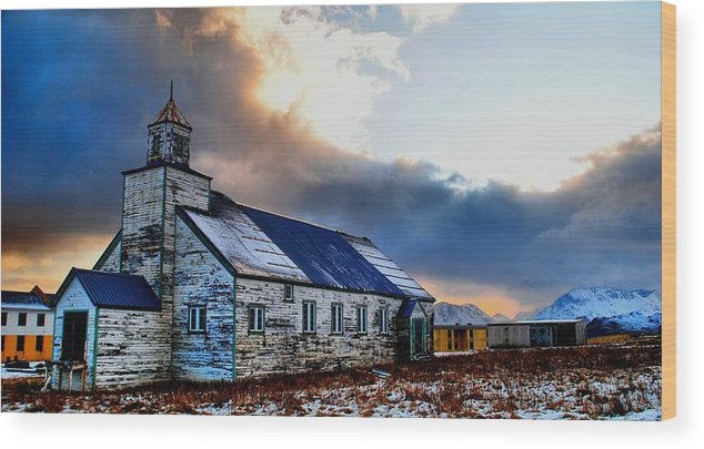 Adak Wood Print featuring the photograph Adak Alaska Church by DH Visions Photography