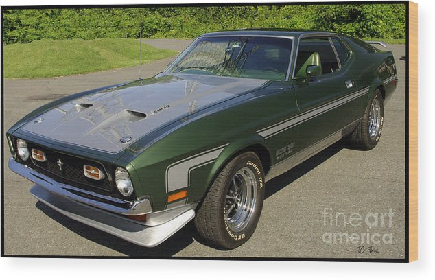 Mustang Wood Print featuring the photograph Boss 351 Mustang by James C Thomas