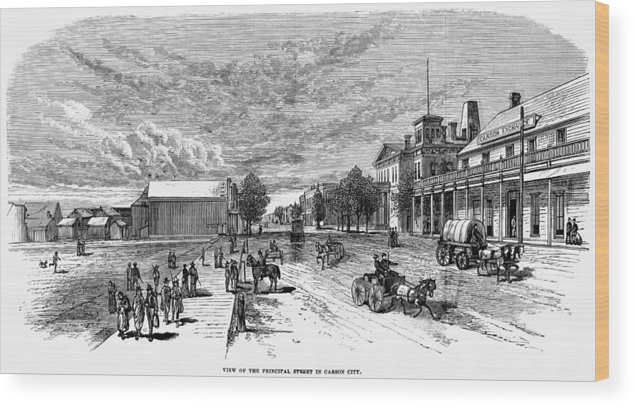 19th Century Wood Print featuring the painting Nevada Carson City by Granger