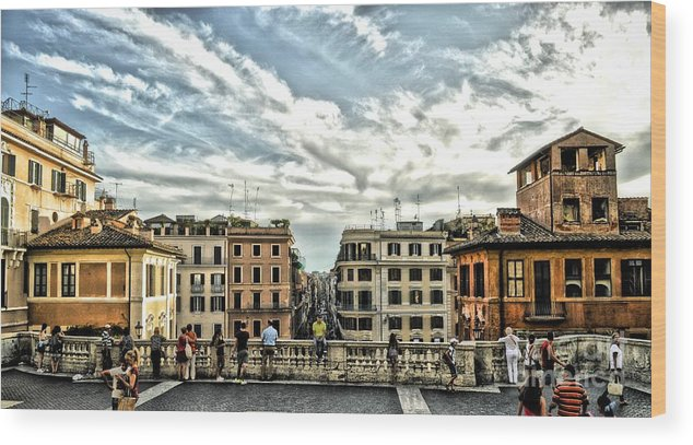 Spanish Steps Wood Print featuring the photograph Spanish Steps by Allen Hall