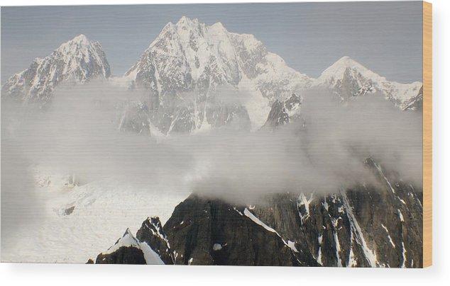 Alaska Wood Print featuring the photograph Mt. Mckinley by Keri Thibeau
