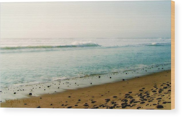 Sea And Sand Wood Print featuring the photograph Sea And Sand by Brigette Hollenbeck