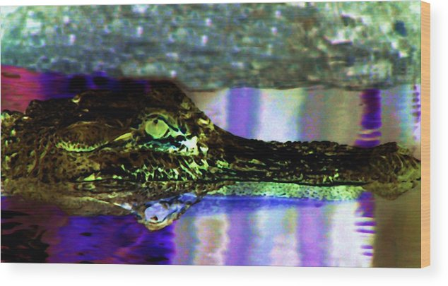 Alligator Wood Print featuring the digital art Green Machine by Kenna Westerman