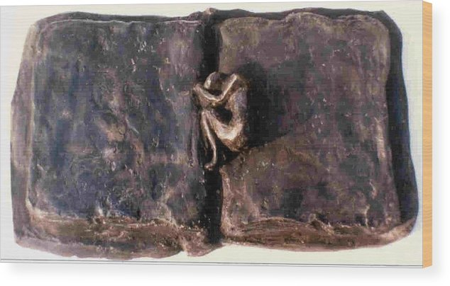 Bronze Wood Print featuring the sculpture An Unfinished Story by Rooma Mehra
