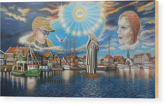 Volendam Wood Print featuring the painting Just For Them by Tom Bokstijn