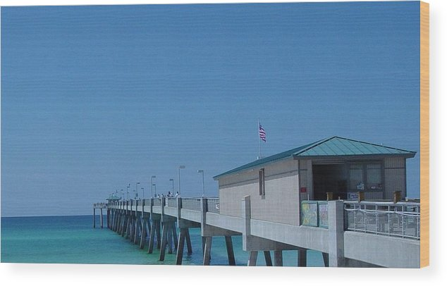 Pier Wood Print featuring the photograph Ocean Pier by Greg Brandt