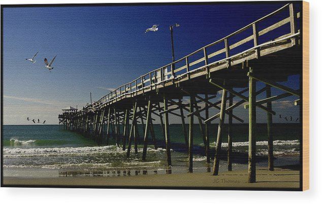 Pier Wood Print featuring the photograph The Fishing Pier by James C Thomas