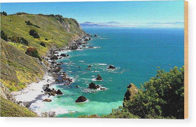 California Wood Print featuring the photograph Coastline by Greg Thiemeyer
