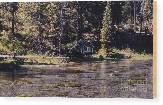 Landscape Wood Print featuring the photograph 894 Sl A River Runs By by Chris Berry