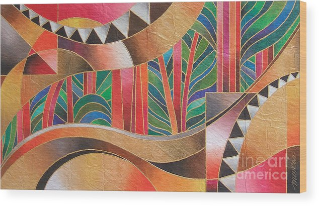 Fiji Islands Wood Print featuring the painting Deuba Sunset by Maria Rova
