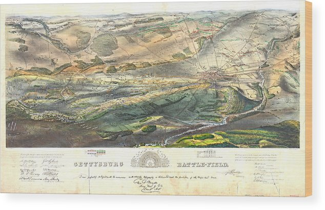 Gettysburg Battlefield 1863 Wood Print featuring the photograph Gettysburg Battlefield 1863 by Padre Art