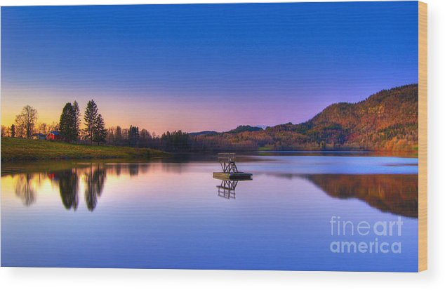 Scenery Wood Print featuring the photograph Morning Glory.. by Nina Stavlund