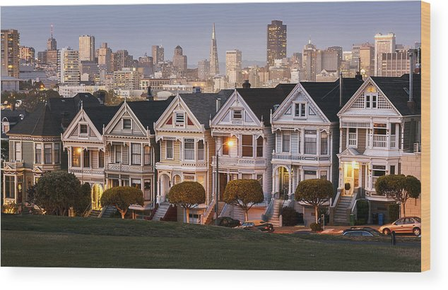 San Francisco Wood Print featuring the photograph Painted Ladies by Maico Presente