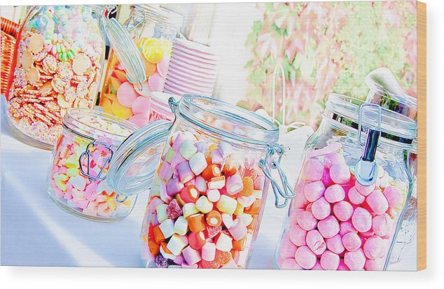 Sweets Wood Print featuring the photograph Pink Sweets by Nataliya Pergaeva