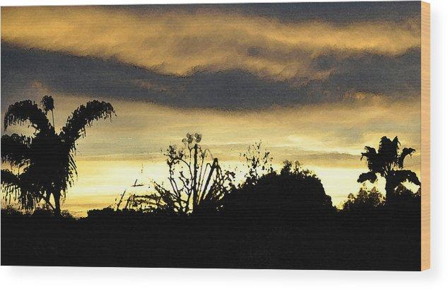 Sunset Wood Print featuring the digital art Solana Beach Sunset 3 by Kirt Tisdale