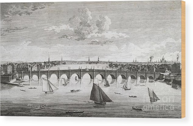 Westminster Bridge Wood Print featuring the photograph Westminster Bridge, London, by British Library