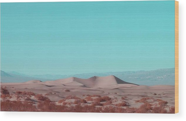 Nature Wood Print featuring the photograph Death Valley Dunes 2 by Naxart Studio