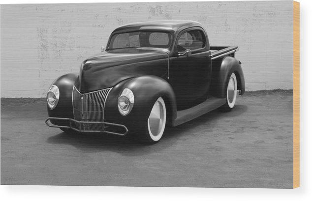 Hot Rod Wood Print featuring the photograph Hot Rod Pick Up by Rob Hans