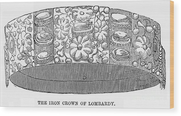 1859 Wood Print featuring the photograph Iron Crown Of Lombardy by Granger