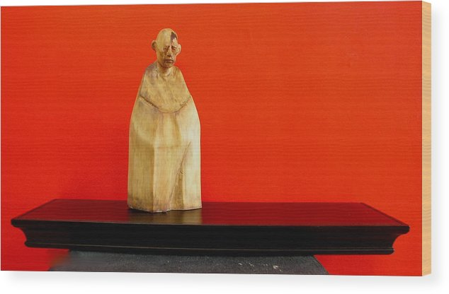 Figure Wood Print featuring the sculpture Untitle by Victor Amor