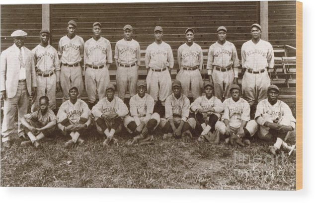 1927 Wood Print featuring the photograph Baseball: Negro Leagues by Granger