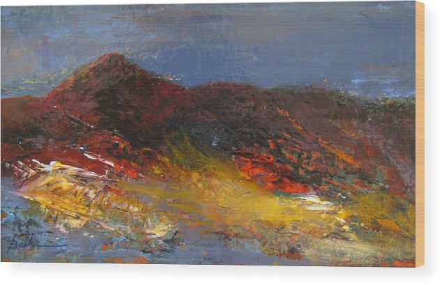 Mountain Wood Print featuring the painting Colorado Glow by Marie Baehr