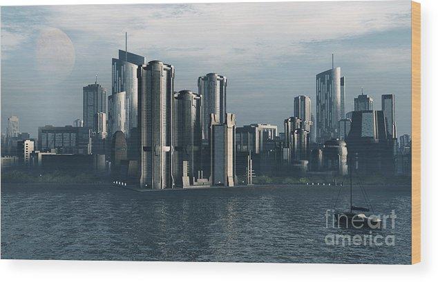 Futurism Wood Print featuring the digital art Destiny by Richard Rizzo