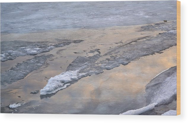 Abstract Wood Print featuring the photograph Ice And Clouds 2 by Lyle Crump