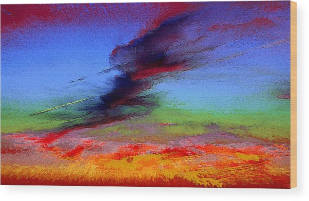 Clouds Wood Print featuring the photograph Sky Blastin by Scott Washburn