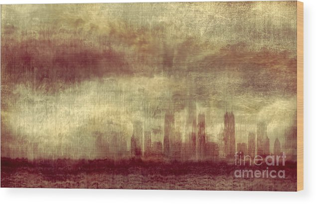 Clouds Wood Print featuring the photograph Someone To Hold You Beneath Darkened Sky by Dana DiPasquale