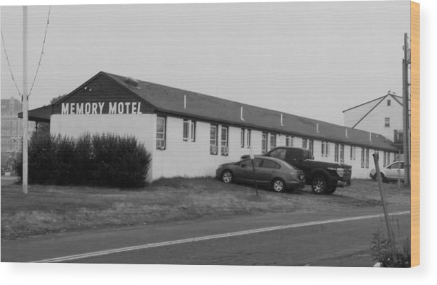 The Rolling Stones Wood Print featuring the photograph The Rolling Stones' Memory Motel Montauk New York by Rob Hans