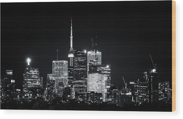 Toronto Wood Print featuring the photograph TO6 by Terrylknox Magbanua