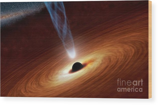Black Hole Wood Print featuring the photograph Supermassive Black Hole, Artwork by Nasa