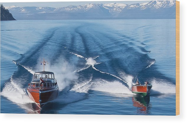 Lake Wood Print featuring the photograph Lake Tahoe Wooden Boats by Steven Lapkin