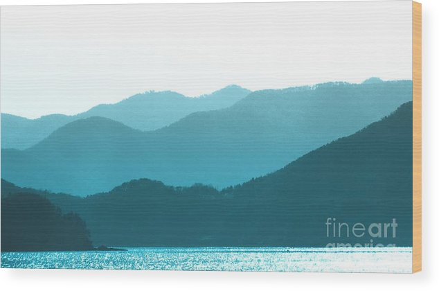Smoky Mountains Wood Print featuring the photograph Coastal Mountains II by Scott Cameron