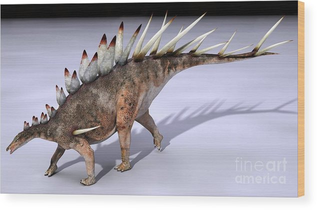 Omosaurus Wood Print featuring the photograph Dacentrurus Dinosaur, Artwork by Jose Antonio Pe??as
