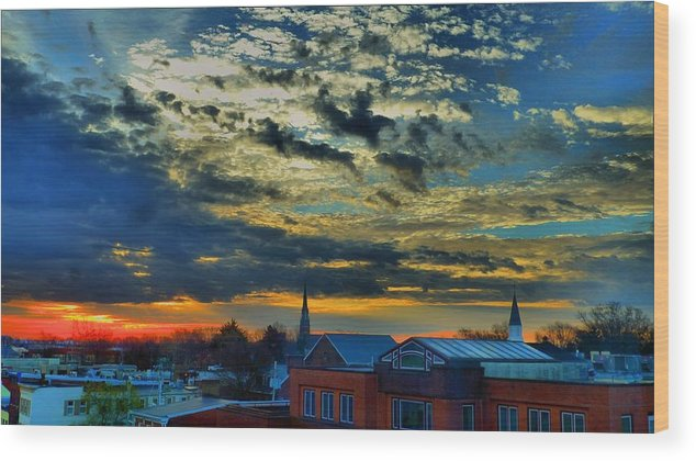 Annapolis Wood Print featuring the photograph December Sunrise In Annapolis by Jennifer Wheatley Wolf
