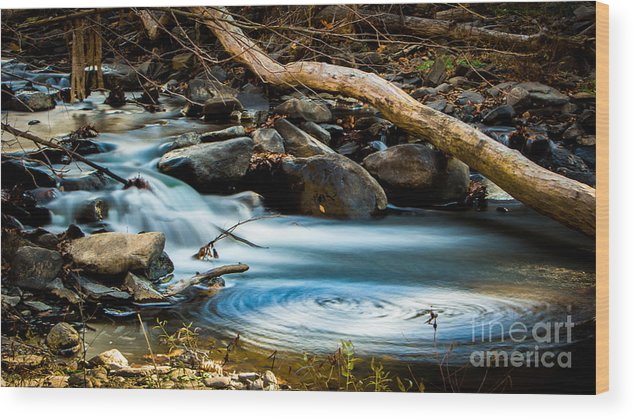 Water Wood Print featuring the photograph Frothy Swirls by Brad Marzolf Photography