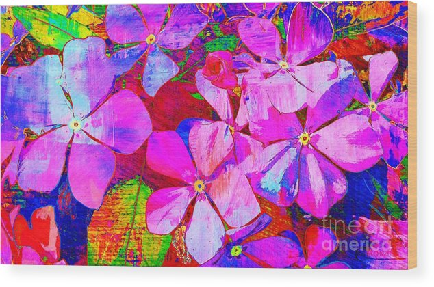 Flowers Wood Print featuring the photograph Garden Of Hope 002 by Robert ONeil