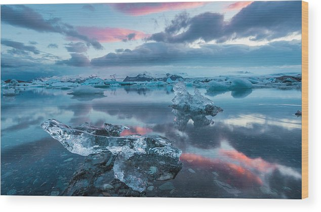 Iceland Wood Print featuring the photograph Iceland Daybreak by Mike Walker