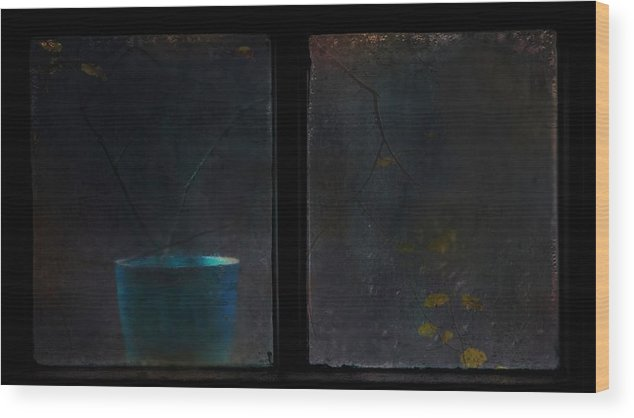 Window Wood Print featuring the photograph Impression (2) by Delphine Devos