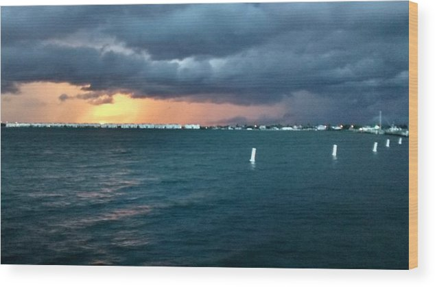 Indiana River Lagoon Wood Print featuring the photograph Indian River Lagoon Florida Storm by Zech Browning