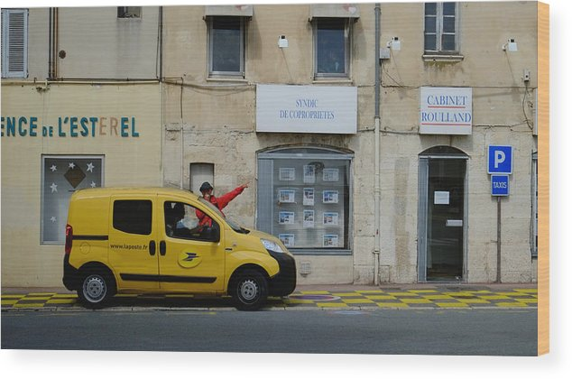Post Service Wood Print featuring the photograph La Poste France by August Timmermans